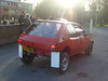 Charlie Knifton tries to protect his Peugeots modesty with those mudflaps