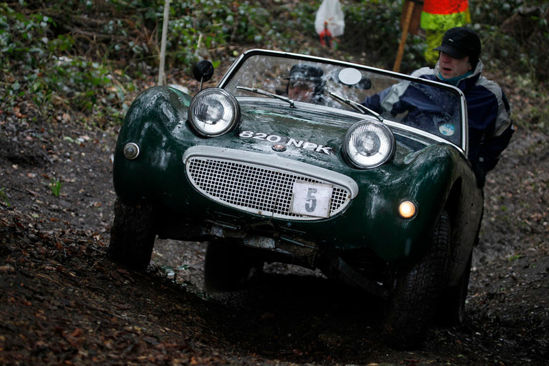 Nick Wilmhurst tries to shift the ballast as Keith Pettit struggles for grip on Beetle Drive