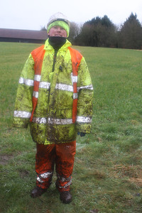 Alan oakes after a day marshalling in Binghams Wood
