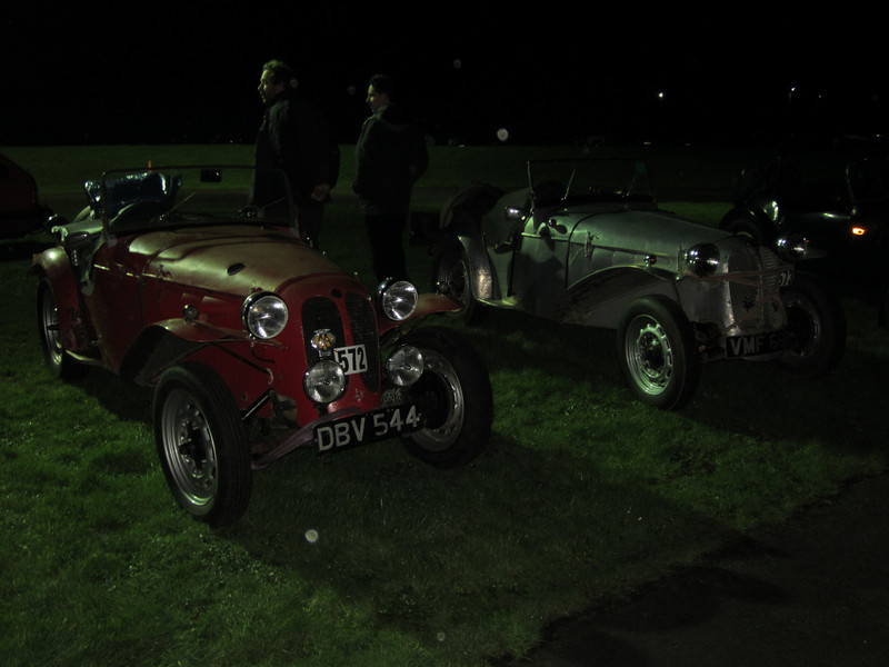 Mk 1 Sidevalve Dellows at the start - Mike Westbrook & Andrew Isherwood