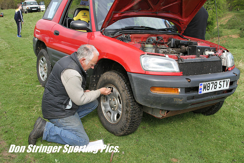 Arnold Lane scruitineering Chris Maries FWD RAV4 - It was to retire with transmission problems