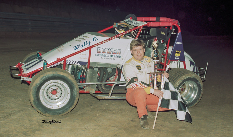 Dickie Gains, winner of all 5 sprint car races held at the facility.