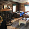this cabin soften up the fellows....one easy night....then back to the woods and the tents....