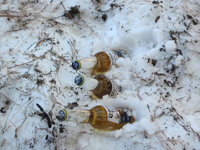 Beer cooler....Snow!