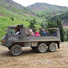Tourist from Oury in a swiss military truck.