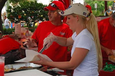 040 Serving up Food at Leesburg Bike Fest