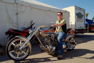 018 Zach on J P Cycles Chopper Bike Week 2009