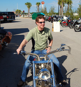 019 Zach on J P Cycles Chopper Bike Week 2009