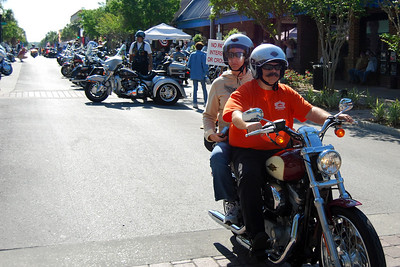 029 Biker on Main St in Leesburg Florida during 2009 Bike Fest