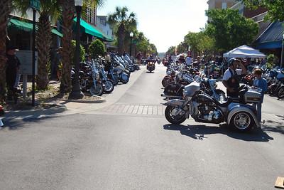 030 Looking east on Main St in Leesburg Florida at 2009 Bike Fest