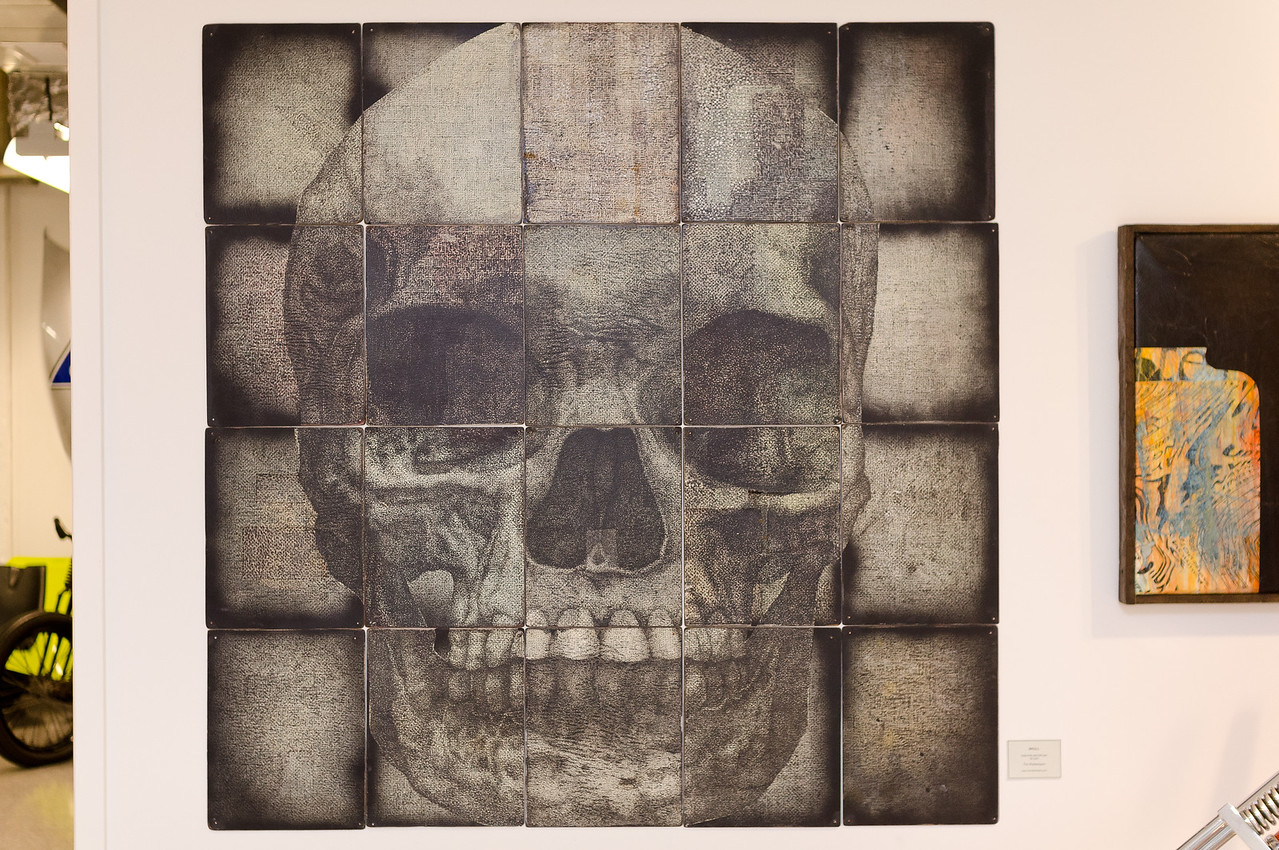 "<div style=""text-align:left !important""> <h2>""Skull"" by Tim Rietenbach</h2> <br> </div>"