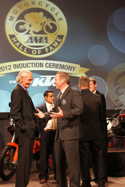 arrange mode ? hide photo ? 2012 AMA Motorcycle Hall of Fame Induction Ceremony, presented by KTM. The ceremony is part of the American Motorcyclist Association Legends Weekend, powered by Paul Thede's Race Tech, held Nov. 16 at the Red Rock Casino, Resort and Spa in Las Vegas. Photo credit: Jeff Guciardo/American Motorcyclist Association.