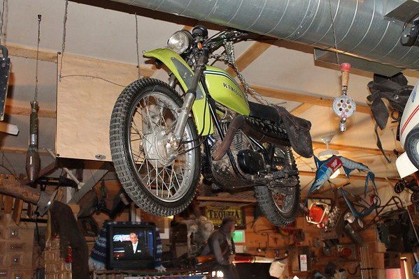 Steve McQueen Motorcycle in Coyote Cantina