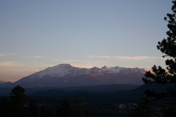 Pikes Peak from dave's deck