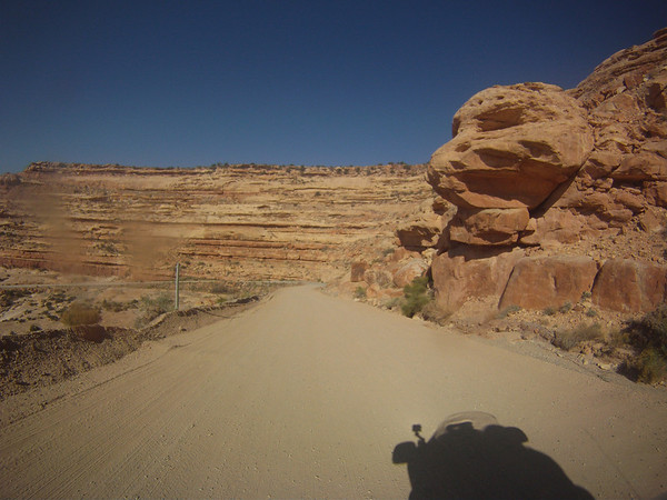 Riding down Mokey Dugway