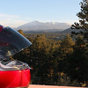 Pikes Peak in the background from Dav's deck