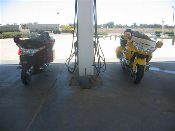 refuelling at the QLD border