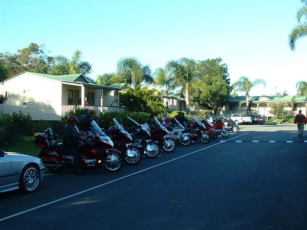Line up before leaving for a ride