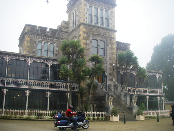 Larnach castle on the moring as we were about to leave