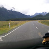 Riding into Milford sound