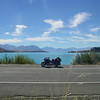 The bike and lake tekapo