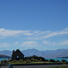 Over looking the church at lake tekapo