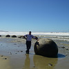 The perfect rounded Boulders of Moeraki these boulders are made after years of pounding in the sea and rivers, they are known as septarian concerations alot like pearls