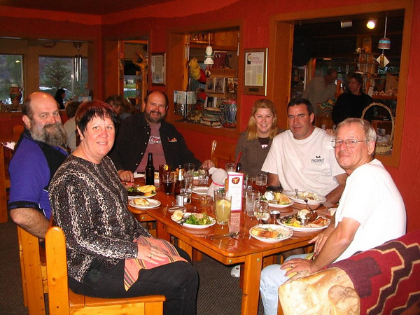 Dinner in Torrey - Left to Right.<br /> Clint, Charleen, Dave, Kaz, John and Jack.