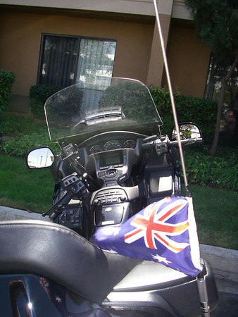 The black wing all ready to ride with GPS and flag ready to go