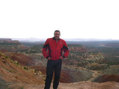 John at the end of the burr trail