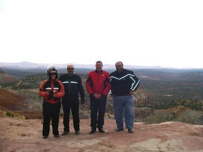 Charleen, Clint, John and Dave - Burro Road, Utah.