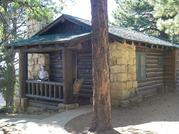 North Rim Lodge, Grand Canyon.<br /> We booked one year in advance to secure one of only four cabins overlooking the Grand Canyon.