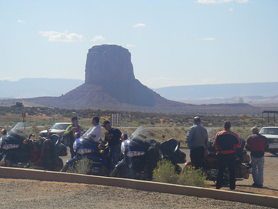 All of us at the Monument valley vieing point