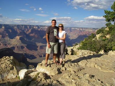 John and Kaz - South Rim Grand Canyon, Arizona.