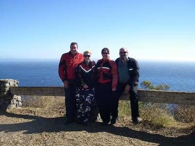 John,Kaz,Charleen & Clint. Day One along Highway One heading towards the Big Sur.
