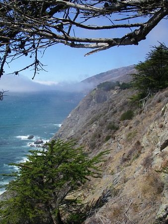 Heading up Highway One towards Big Sur, you can just make out the sea mist starting to roll in from the Pacific Ocean.