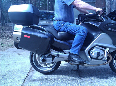 Side view with feet up and slid back in natural riding position.
