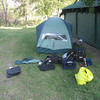First Night's campsite at Cache Creek.