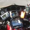 My cockpit (satellite radio, 2720 GPS, Paper Map, SPOT Satellite Messenger, 60CSx GPS)