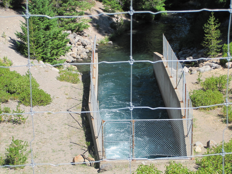 Crescent Lake dam outflow