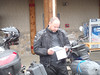 Brian looking over the day's route in the Rally Book.