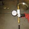 Leak down test, LH cylinder.