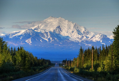Mt Drum, from about 6 miles west of Glennallen.