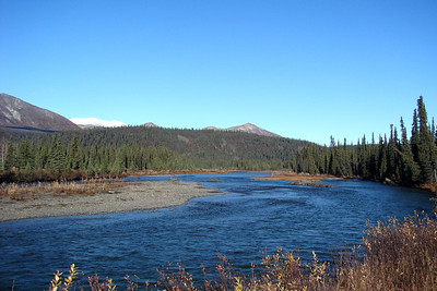9/24/06 - The Nenana River flows next to the Denali Hwy as it nears Cantwell and the Parks Hwy.