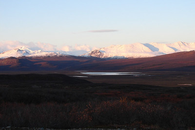 9/24/06 - Mountains of the Alaska Range, looking north across the McLaren River valley.