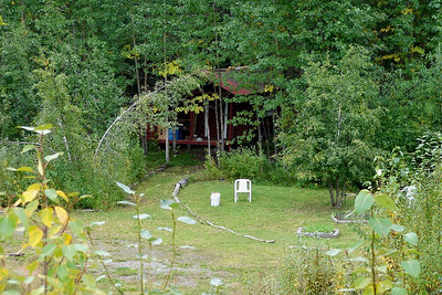 "9/3/06 - This little ""hidden"" cabin is just upstream of the old Tiekel Lodge."