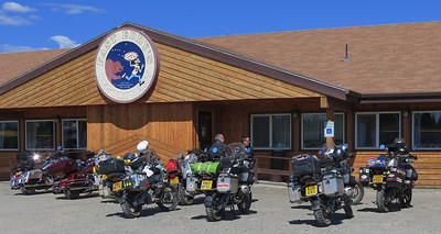 For many riders, as well as other tourists:  The first stop upon entering Alaska, or the last stop before departing - Fast Eddy's Restaurant in Tok, at Mile 1313 on the Alaska Hwy.