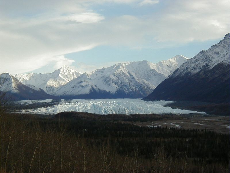 One of many shots of the Matanuska Glacier, as seen from the wayside at MP101 of the Glenn Hwy.
