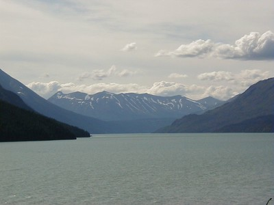 Kenai Lake as seen from the Seward Hwy. south of the Sterling Hwy. junction.