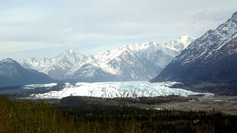 Another view of the Matanuska Glacier; this one also as seen from the Matanuska Glacier Wayside at MP101 on the Glenn Hwy.